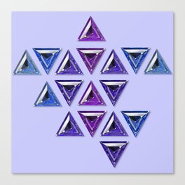 Cool Tones Gradient Trillion Pattern Canvas Print