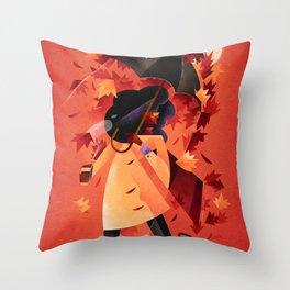 The Autumn Leaves Throw Pillow