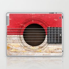 Old Vintage Acoustic Guitar with Indonesian Flag Laptop & iPad Skin