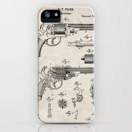 Western Revolver Patent - Antique Firearm Art - Antique iPhone Case