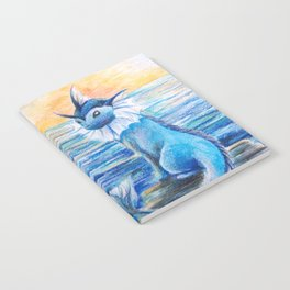 Vaporeon By The Sea At Dawn Notebook