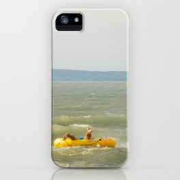 Lake Fun with Inflatable Toys iPhone Case