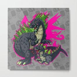 Kaiju Senior Kaiju Junior Metal Print