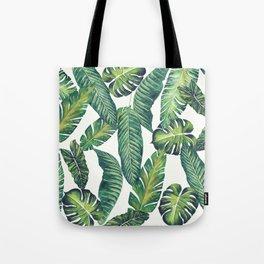 Jungle Leaves, Banana, Monstera II #society6 Tote Bag