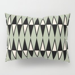 Mid Century Modern Diamond Pattern Sage Green 234 Pillow Sham