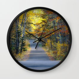Itasca in the fall Wall Clock