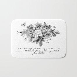 Words of Wisdom: Jane Austen Bath Mat