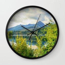 Strbske Pleso in High Tatras mountains Wall Clock