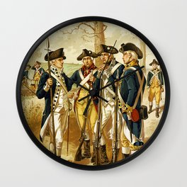 Infantry: Continental Army 1779-1783 by H.A. Ogden (1879) Wall Clock