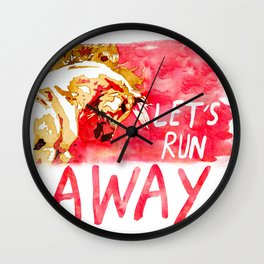 Let's Run Away Horse Wall Clock