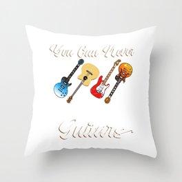 Different Genre Kinds Of Musical Instrument Music Guitar Metal Designs Collection T-shirt Design Throw Pillow