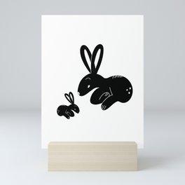 Rabbit Mom Mini Art Print