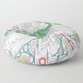Emerald Reflection Floor Pillow