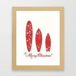 Surfboards - Merry Christmas  Framed Art Print