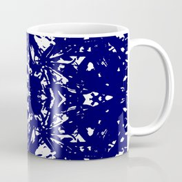 Abstract Carving: Blue Coffee Mug