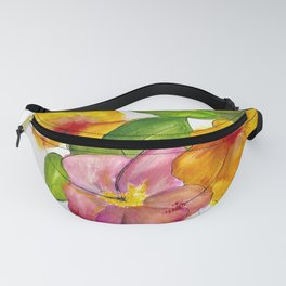 Hibiscus Flowers Fanny Pack