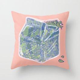 Plant Milk Throw Pillow