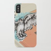 mcfly iPhone & iPod Cases featuring Owl McFly by carographic by carographic portrait paintings