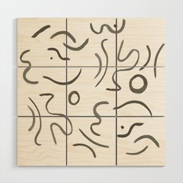 Stroke Abstract Wood Wall Art