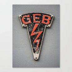 G E B Canvas Print