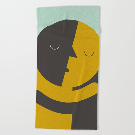 Love poster Beach Towel