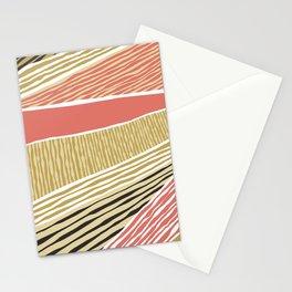 Modern irregular Stripes 05 Stationery Cards