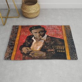 Red Johnny Cash Rug