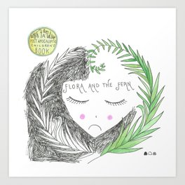 Flora and the Fern Art Print