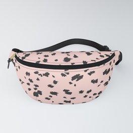 Leopard Dot Pattern Pastel Pink Print Fanny Pack