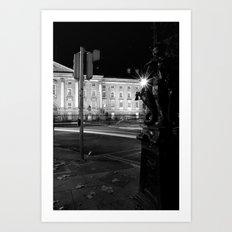 Stop. Light. [Black & White] Art Print