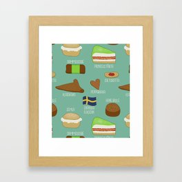 Swedish fika collection #2 Framed Art Print