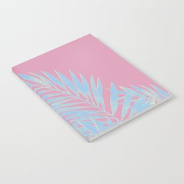Palm Leaves Blue And Pink Notebook