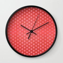 Lots of Dots - Geometric Pattern Design (Red) Wall Clock