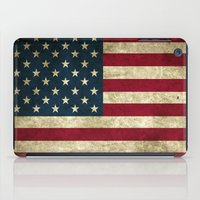 american flag iPad Cases featuring American Flag by Nechifor Ionut