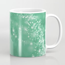 Elegant green white abstract starry Christmas pattern Coffee Mug