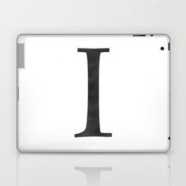 Letter I Initial Monogram Black and White Laptop & iPad Skin