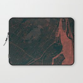 Montreal Map Red Laptop Sleeve