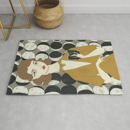 Phases of the Moon girl Rug