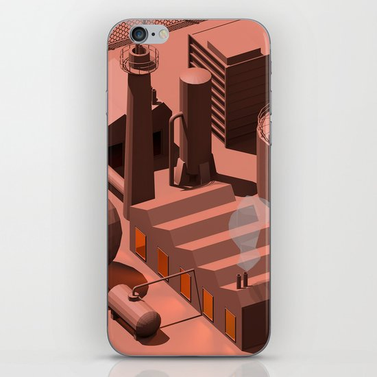 Low Poly Industry iPhone Skin