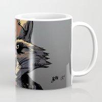 rocket Mugs featuring Rocket by Jaz Mimms
