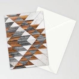 Urban Tribal Pattern 12 - Aztec - Wood Stationery Cards