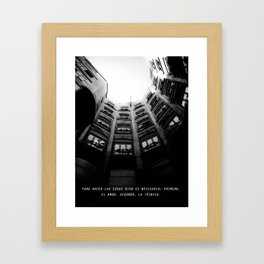 Meet me at Gaudi's Framed Art Print