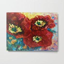 Three Poppies by Lena Owens @OLena Art #Society6 Metal Print