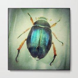 Iridescent Blue Metal Print