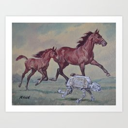 Wild, Young and Free Art Print