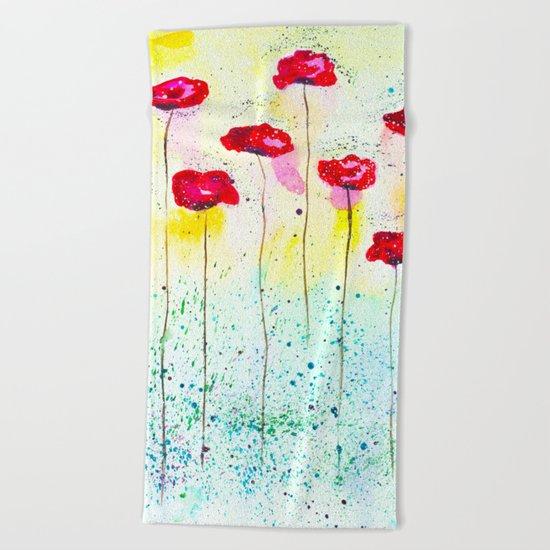 Poppies fantasy Beach Towel