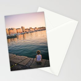 Sunset in Marseille Stationery Cards