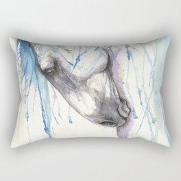 Andalusian horse watercolor art Rectangular Pillow