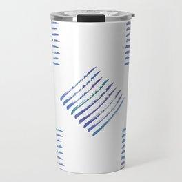 Rough stripes in blues Travel Mug