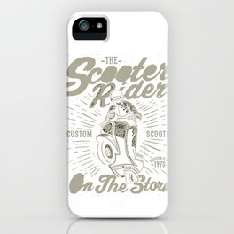 The Scooter Rider iPhone Case